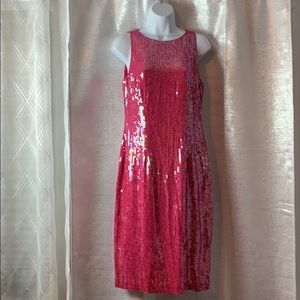 Sleeveless all over sequin party dress sz 6